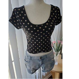 Forever 21 Black Crop Top Size M